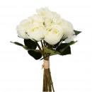 Rosen Bund Valerie mit Blättern, 9 Rosen, 1 Horten
